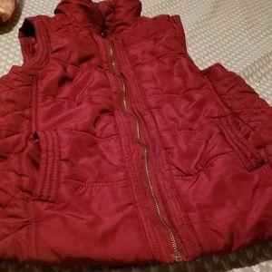 maroon juniors vest